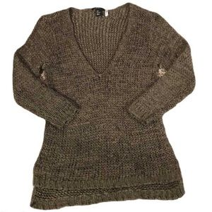 H&M Green Chunky Knit Sweater - Women's Size Small